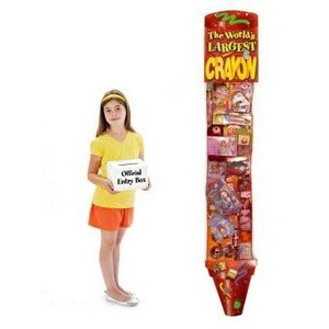 The World's Largest 6' Promotional Hanging Toy Filled Crayon - Deluxe