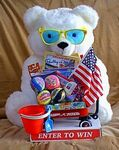 Custom Summer Fun Bernie the Bear Toy Promotional Display w/Toy Filled Wagon