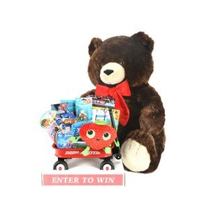 Bernie the Bear In Store Sweepstakes w/Toy Filled Wagon