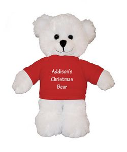 Soft Plush White Bear with Tee 8
