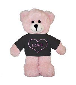 Soft Plush Pink Bear with Tee 8