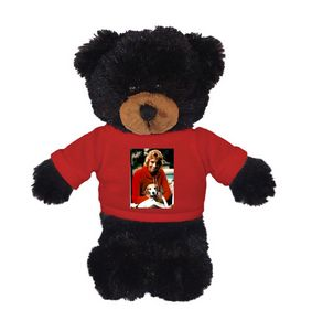 Soft Plush Black Bear with Tee 8