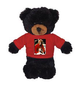 Soft Plush Black Bear with Tee 8