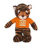Custom Soft Plush Tiger with Tee 12