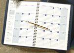 Custom Monthly Desk Planner w/Tabbed Telephone/Address Book