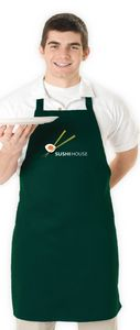 Basic Full Length Apron w/ No Pocket (Colors)