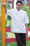 Custom Unisex White Short Sleeve Moisture Control Chef's Coat (4XL-6XL)