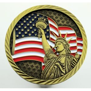 "Texture Tone™ Antique Double Sided Liberty Coin (2"")"