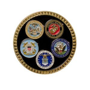 Texture Tone™ Military Coin (All 5 Branches)