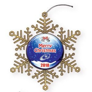 "Vibraprint™ Snowflake Holiday Ornament (3"")"