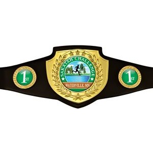 Express Vibraprint™ Bright Gold Championship Shield Award Belt
