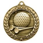 Custom 2 3/4'' Golf Wreath Award Medallion