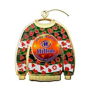 "Vibraprint™ Ugly Sweater Ornament (2-1/2"")"