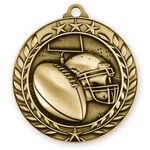 Custom 1 3/4'' Football Medal (G)
