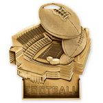 Custom 3 1/2'' Football Standup Medallion