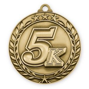 1 3/4'' 5K Wreath Award Medallion
