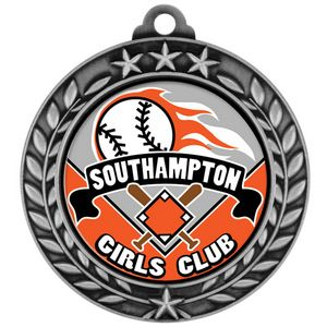1 3/4 Express Vibraprint Wreath Award Medallion (S)