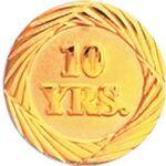 Custom 10 Year Service Lapel Pin