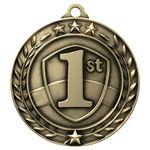 Custom 2 3/4'' 1st Place Wreath Award Medallion