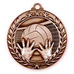 Custom 1 3/4'' Volleyball Medal (B)