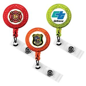 Express Vibraprint™ Reflective Badge Reel with Belt Clip