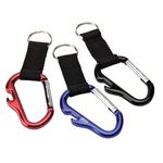 Custom Carabiner Key Ring w/ Web Strap