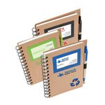 Eco Friendly Business Card Window Spiral Notebook & Pen