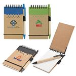 Eco Friendly Mini Notebook Jotter W/ Pen