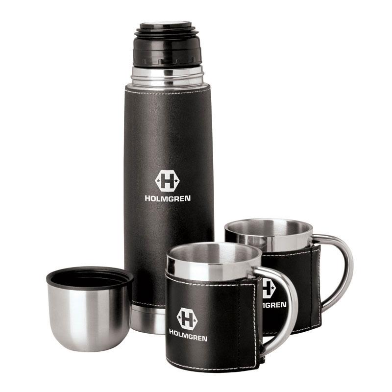 Cinna I Steel Flask & Cups Travel Set
