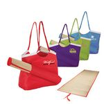 Custom Beach Tote Bag w/ Roll Up Natural Fiber Mat