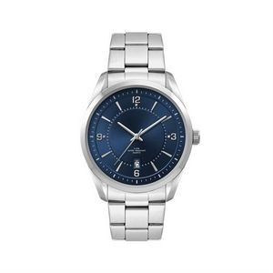 Men's Blue Dial 42mm Metal Case Men's Blue Dial 42mm Metal Case with Folded Steel Band