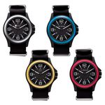 Custom Watch Creations Unisex Watch w/ Nylon Strap & Colored Bezel