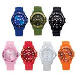 Custom Watch Creations Unisex Watch w/ Rubber Strap & Matching Bezel