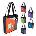 Custom Wide Pocket Tote Bag w/ Pen Loop