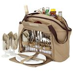 Custom 4 Person Picnic Carry Set w/ Cooler Tote