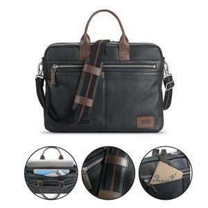 Solo Shorewood Leather Briefcase