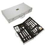 Custom Executive 18 Piece Stainless Steel BBQ Set