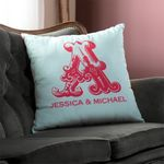 Custom Circa in Cherry Personalized Throw Pillow
