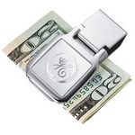 Custom Square 3D Mirror Etched Chrome Money Clip