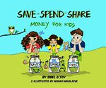 Custom Save-Spend-Share,Money For Kids-Hard Cover-Spanish Version