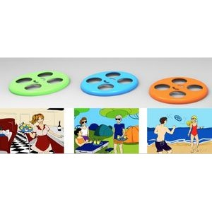 Flying Disc Traybee Cup Holder 4 Cups Various Hole Sizes
