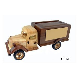 Wooden Sliding Lid Truck w/ Chocolate Almonds