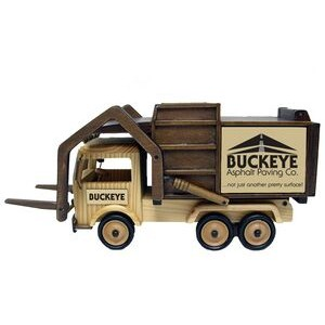 Wooden Garbage Truck w/ Forks - Natural Pistachio Nuts