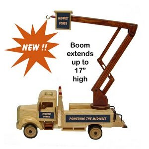 Wooden Collectible Lift Bucket Truck - Decorated (1) Position - Chocolate Covered Almonds