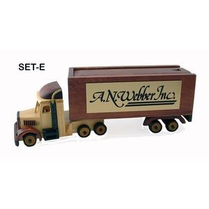 Wooden Semi Truck w/ Chocolate Covered Almonds