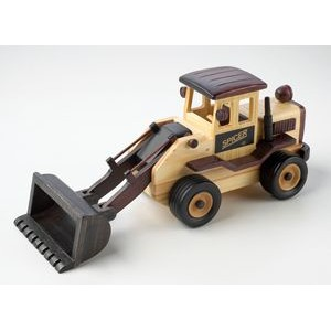 Wooden Front End Loader w/ Cinnamon Almonds