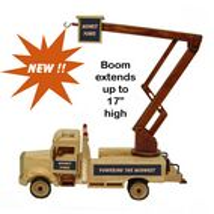 Custom Wooden Collectible Lift Bucket Truck (Empty)