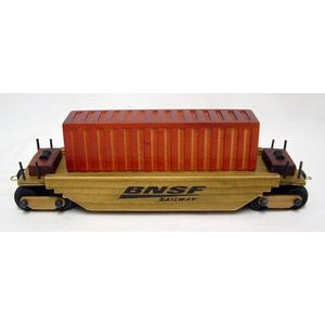 Wooden Collectible Train Intermodal Car w/ 5 Oz. Cinnamon Almond