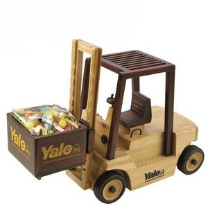 Wooden Forklift w/ Chocolate Almonds