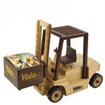 Custom Wooden Forklift w/ Chocolate Almonds